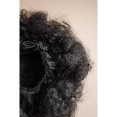 Заколка пучок искусственные волосы афро кудри ( 1 )