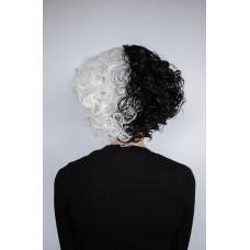 Кучерява перука двоколірна Круєла Де Віль ( 8015 )