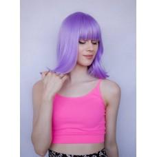 Фіолетова перука каре рівний чубчик ( 0258 )