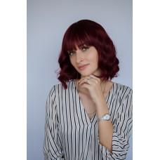 Женский бордовый парик с ровной челкой ( 2355 )