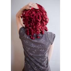 Кудрявый красный парик средней длины ( 2791 )