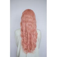 Длинный розовый парик искусственные волосы ( 1761-6 )