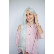 Длинный серый парик имитация роста волос ( 6700 )