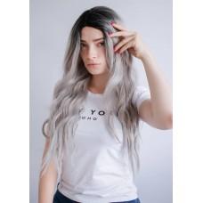 Сіра перука з довгим волоссям ( 2203 )