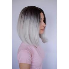 Сіра перука каре з штучного волосся ( 2837 )