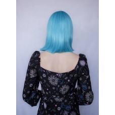 Блакитна перука каре рівний чубчик ( 2113 )