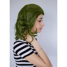 Зеленый парик средней длины в стиле Джокер ( 1919 )