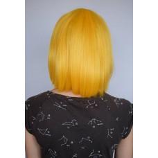 Желтый парик каре термоволокно ( 1126 )