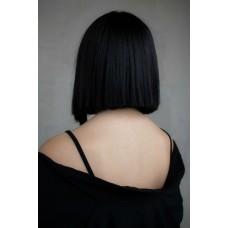 Жіноча перука каре на сітці чорна ( 9431 )
