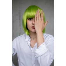 Перука зелена каре імітація росту волосся ( 0518 )