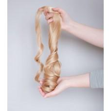 Накладний хвіст золотистий блонд хвиля ( 25 )