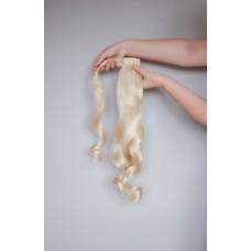 Накладной волнистый хвост блонд ( 613 )