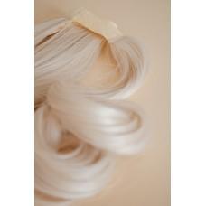 Довгий накладний хвіст шиньон холодний блонд ( 60 )