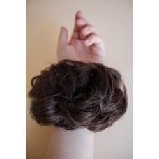 Пучок резинка из волос темно коричневая ( 4 )