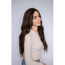 Коричневый длинный парик без челки ( 2155 )