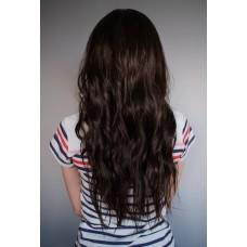 Довга коричнева перука без чолки ( 1794 )