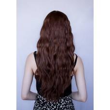 Довга коричнева перука з центральним пробором ( 5005 )