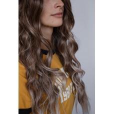 Длинный парик с пробором на сетке колорирование ( 5272 )