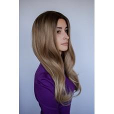 Длинный пепельно русый парик без челки ( 2773 )