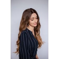 Длинный русый парик без челки колорирование ( 50071 )