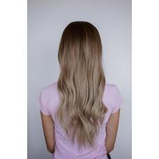 Длинный русый парик затемненные корни колорирование ( 17910 )