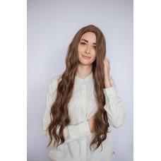 Коричневый длинный парик из термоволокна ( 50361 )