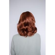 Коричневый парик средней длины без челки ( 2219 )