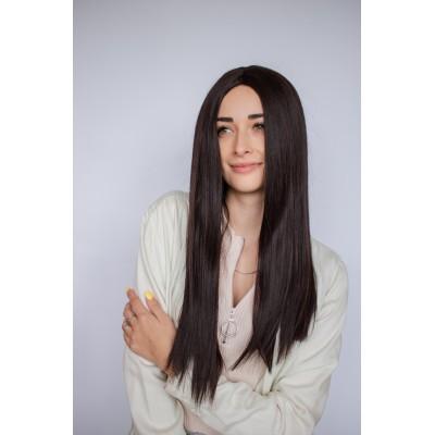 Коричневый парик термоволокно