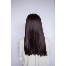 Довга коричнева перука з імітацією шкіри голови ( 5920 )