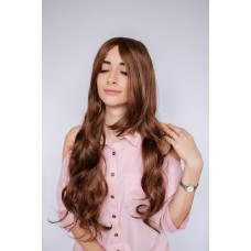 Женский коричневый парик из синтетических волос ( 60333 )
