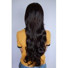 Коричневый парик с вьющимися волосами ( 9440 )