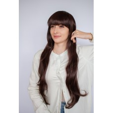 Коричневый парик для женщины из термоволокна ( 3132 )