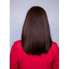Коричнева перука середньої довжини з чубчиком ( 2603 )