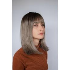 Русый мелированный парик каре с челкой ( 246 )