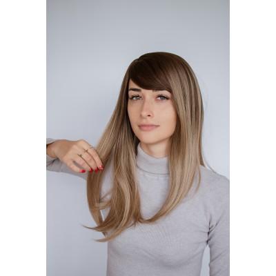 Руса перука середньої довжини з чолкою ( 2021 )