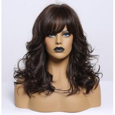 Жіноча коричнева перука ( 3781 )