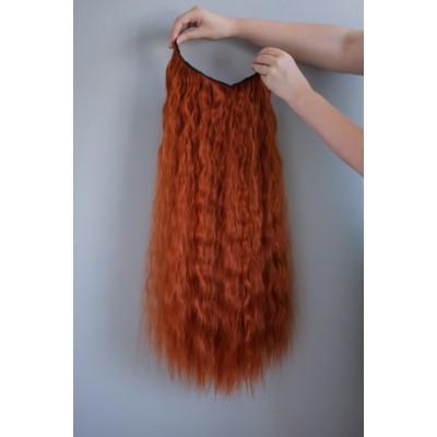 Волосся на кліпсах заколках руде ( 119 )