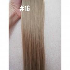 Пряме волосся на шпильках треси попелястий блонд ( 16 )