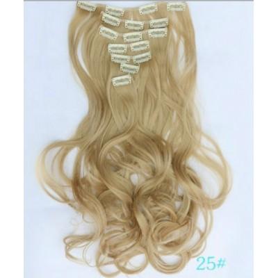 Волосся на заколках блондинка ( 25 )