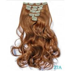 Волосы на заколках волнистые золотисто коричневые ( 27 )