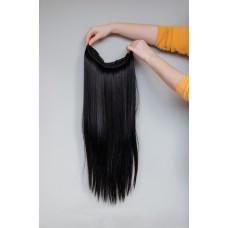 Черные накладные волосы трессы для самостоятельного наращивания ( 1 )