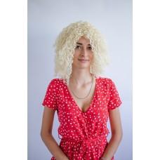 Афро парик блондинка средней длины без челки ( 1654 )