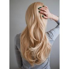 Довга перука блондинка без чубчика ( 1617 )