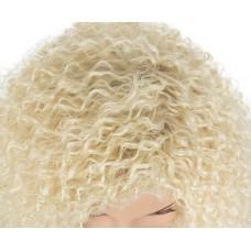 Афро перука блондинка середньої довжини без чолки ( 1654 )