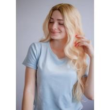 Довга перука блондинка імітація росту волосся ( 3564 )
