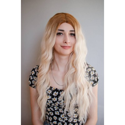 Перука блондинка довге волосся ( 2354 )