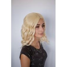 Короткий парик блондинка с пробором на сетке ( 5183 )