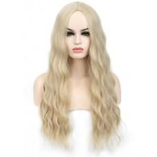 Перука жіноча без чубчика блондинка ( 2130 )