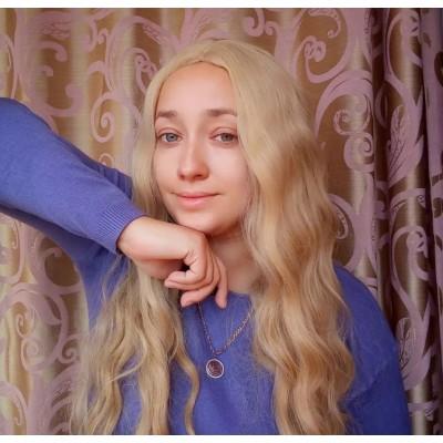 Блондинка перука ( 2130 )