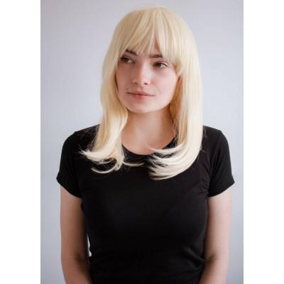 Перука блондинка середньої довжини ( 485613 )